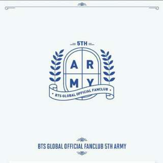 [PROMO INC EMS&POSLAJU] BTS GLOBAL FANCLUB 5TH TERM ARMY MEMBERSHIP KIT