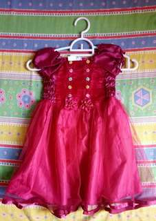 NEW Gaun Merah Dress Ultah