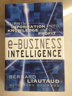 E-Business Intelligence - Turning Information into Profit