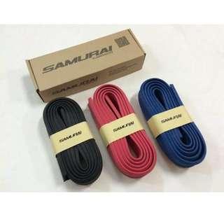 Quality SAMURAI Rubber Skirt 3M Car Front Lip Bumper RubberProtector Guard (255cm) (Black/Red/Blue)