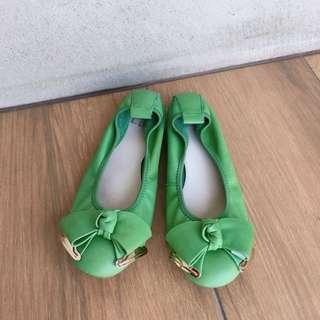 專櫃EA綠色蝴蝶結娃娃鞋