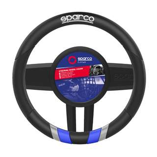 Sparco Steering Wheel Cover (Black and Blue) SPC1115BL