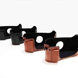 leica m6半截皮套 & leica 背帶 (都真皮) 萊卡 徠卡 底片相機 復古相機
