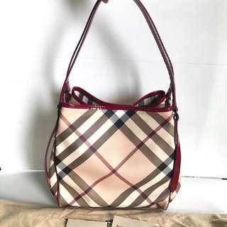 Burberry Nova Check Shoulder Tote with a Small Pouch