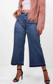 Boohoo wide cut crop jeans