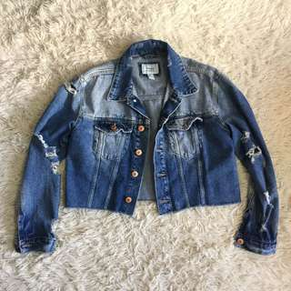 Forever 21 Cropped Denim Jacket