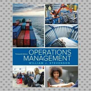 Operations Management 13th Edition eBook