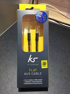 Kitsound 1.2m Flat Auxiliary Cable (3.5mm)