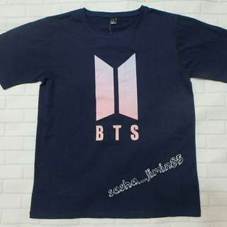 Bangtan BTS Group Name T Shirt (Navy)