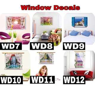 Window Decals ( 60cm by 90cm )
