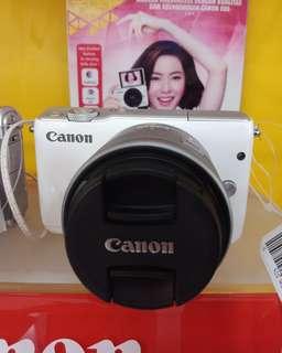 Cannon mirrorles EOSM10 1545 white bisa kredit