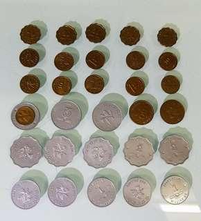 銀行練功幤,硬幣是膠造 老香港懷舊物品
