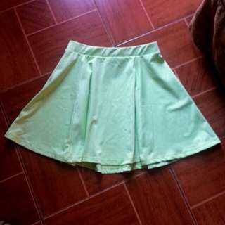 Apple green skater skirt