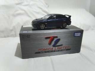 #0142 Tomica Limited Subaru Impreza WRX 4-door
