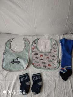 Baby Bibs, Socks & Lenggings