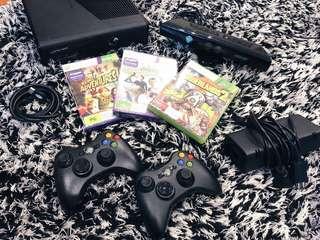 Like New XBOX 360 S Matte Black Console + Kinect + 2 Controls + 3 Games + HDMI