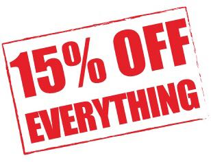 15% OFF ALL MY LISTINGS