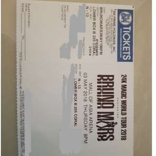 Bruno Mars Concert Ticket May 3