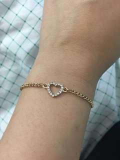 Heart necklace & bracelet