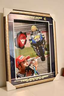 Valentino Rossi autographed collectible