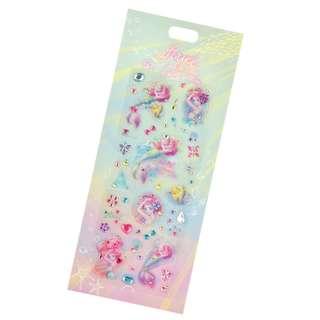 Japan Disneystore Disney Store Ariel the Little Mermaid Water Color Seal Sticker