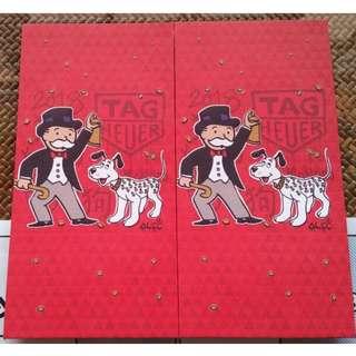 2 pcs Tag Heuer 2018 Branded Red Packet / Ang Bao Pow Pau  Pao / Sampul Duit