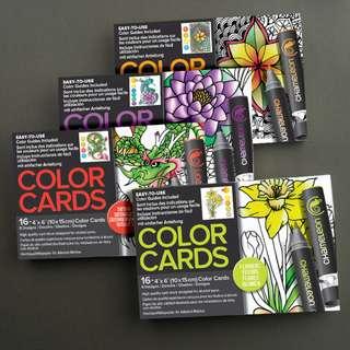 Chameleon Coloring Cards