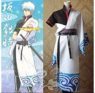 GINTAMA Gintoki Sakata cosplay costume set