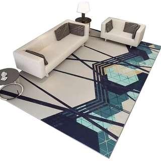 Geometric Print Anti Slip Large Carpet