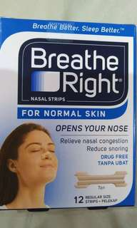 Breathe right nasal stips