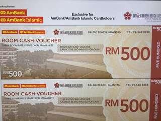 Cash Voucher Swiss Garden Beach Resort Kuantan worth RM500