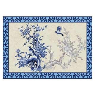 European Antique Floral Design Anti Slip Large Carpet