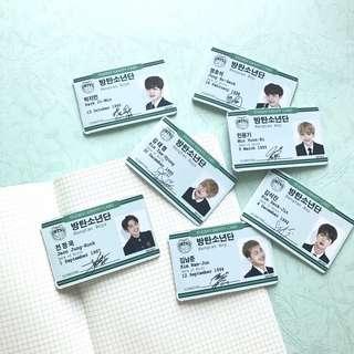 BTS Senior uniform magnet bookmark
