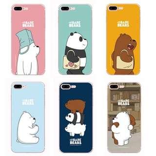 6 designs po we bare bears phone casing