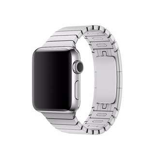 全新 Apple Watch 錶帶 38/42 毫米銀色錶鏈帶 Apple Watch Band 非原裝