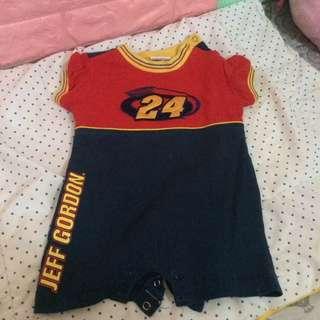 BABY CUTE OOTD NASCAR THEME ONESIE