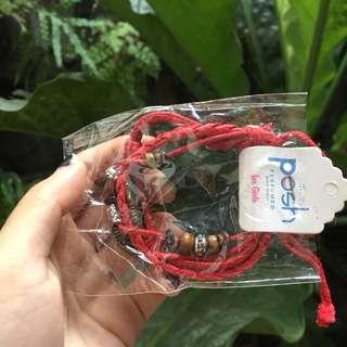 Posh red bracelet