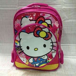 2 in 1 Character Kids Backpack - HELLO KITTY