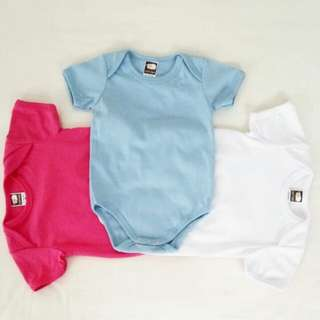 Baby Rompers - Pink & White & Blue