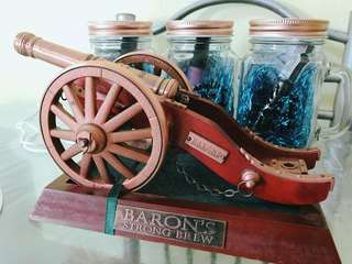 Baron Strongbrew Wheelbarrow Lighter Collectible
