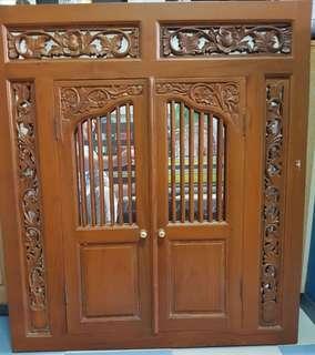 Wooden Antique Window Mirror