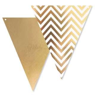 Chevron Bunting Flags – Gold