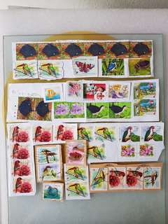 Singapore used stamps 46pcs