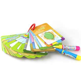 Digital Early Learning card Magic with 2 Pen letter 3D card Painting Board