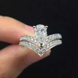 Pear Brilliant Diamond Ring