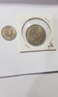 Coin 10cents and 50cents