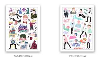 BTS Spring Day+ Blood Sweat tears Stickers
