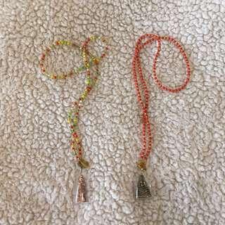 Ethnic beaded necklaces