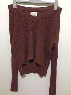 Off The Shoulder Knit: Size M