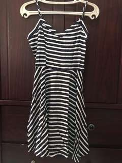 Nautical Blue Stripes Cotton on Dress